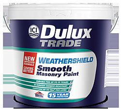 DULUX TRADE WEATHERSHIELD SMOOTH MASONRY PAINT 9LT