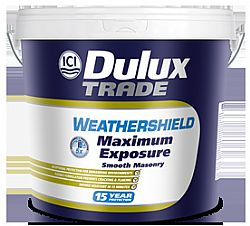 DULUX TRADE WEATHERSHIELD MAXIMUM EXPOSURE SMOOTH MASONRY 9LT