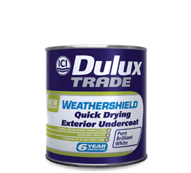 DULUX TRADE WEATHERSHIELD QUICK DRYING EXTERIOR UNDERCOAT 1LT