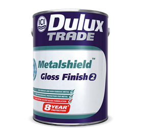 DULUX TRADE METALSHIELD WHITE GLOSS FINISH 1LT