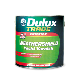 DULUX TRADE WEATHERSHIELD YACHT VARNISH 1LT
